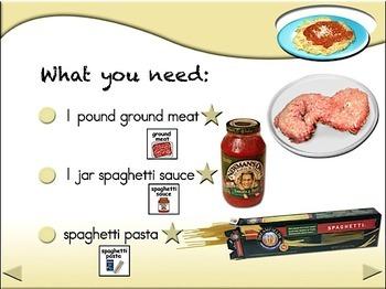 Spaghetti - Animated Step-by-Steps SymbolStix
