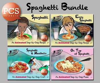 Spaghetti Bundle - Animated Step-by-Steps PCS Symbols
