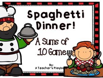 Spaghetti Dinner!  A Making 10 Game!
