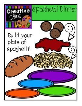 Spaghetti Dinner {Creative Clips Digital Clipart}