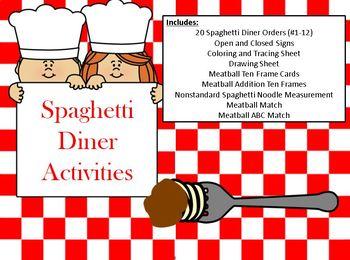 Spaghetti Factory Math and Reading Skills