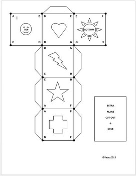 Spaghetti Geometry Cube Net Activity/Lab - Learn Basic Terms