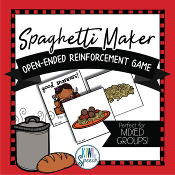 Spaghetti Maker: Open Ended Reinforcement Game: Great for Speech and Language