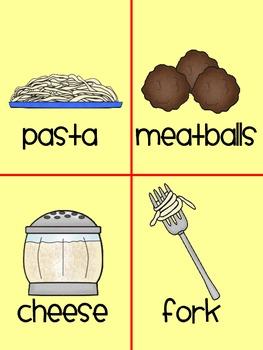 Spaghetti & Meatballs Literacy Activities