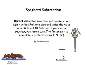Spaghetti Subtraction 1NBT6