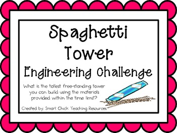 Spaghetti Tower: Engineering Challenge Project ~ Great STEM Activity!