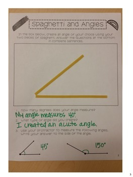 Spaghetti and Angles Geometry Activity