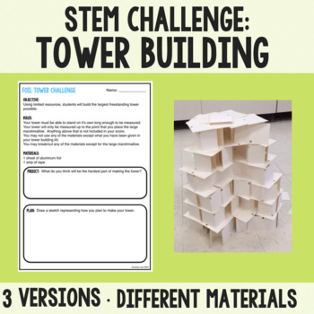 First Day of School STEM Tower Activity