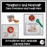 Spaghetti and Meatball Speech and Language Mats Game Compa