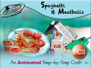 Spaghetti and Meatballs - Animated Step-by-Step Craft PCS