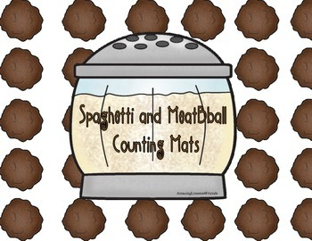 Spaghetti and Meatballs Counting File Folder Game