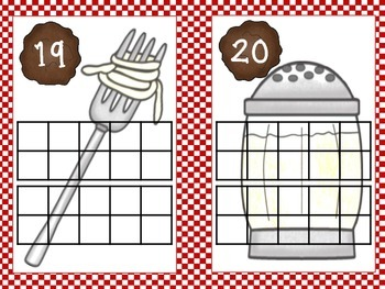 Spaghetti and Meatballs Ten Frame Cards: 1-20