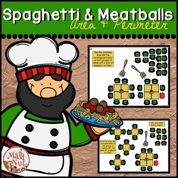 """Area and Perimeter """"Spaghetti and Meatballs for All"""" (Math Literature Lesson)"""