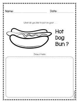 Spaghetti In A Hot Dog Bun Coloring Page
