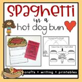 Spaghetti in a Hot Dog Bun Activities - Back to school read aloud