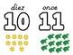Spahish Playdough Numbers