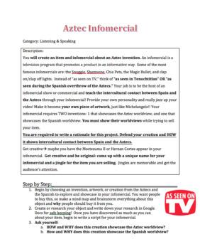Spain & Aztec Worldview Unit Bundle