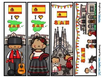Spain Bookmarks -  4 Designs