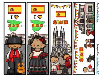 Spain Bookmarks -  4 Designs