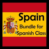 Spain Bundle in Spanish - Power Points, Notes, Movie Unit, Video Activities