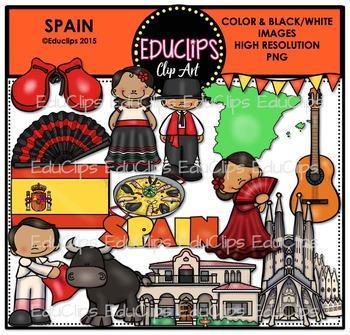 Spain Clip Art Bundle {Educlips Clipart}