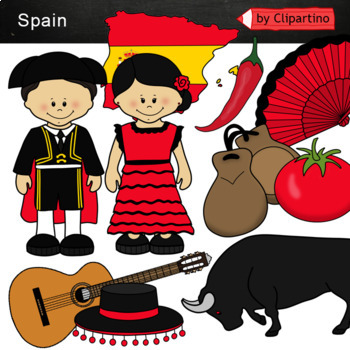 Spain Clipart Bundle
