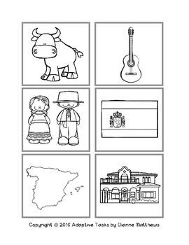Spain File Folder Matching
