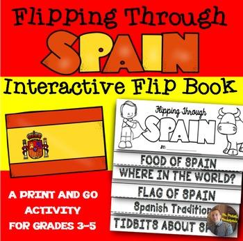 Spain Flip Book: A Social Studies Interactive Activity for
