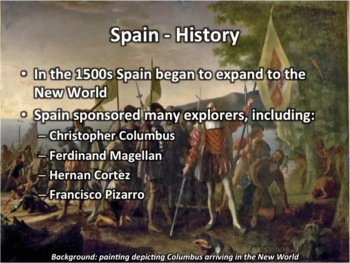 spain geography and history powerpoint by middle school history and geography. Black Bedroom Furniture Sets. Home Design Ideas