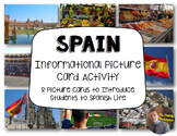 Spain Informational Picture Card Activity: Communities of the World- Grades 3-5