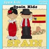Spain Kids Color Clip Art C. Seslar