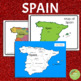 Spain Learning Pack: Reading Materials, Activity Pages and Cards
