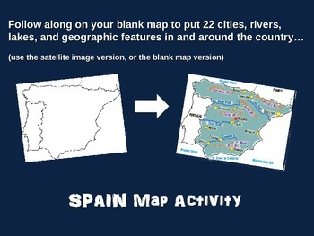 Map 24 Spain.Spain Map Activity Fun Engaging Follow Along 24 Slide Ppt