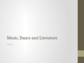 Spain: Music, Dance and Literature