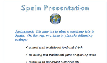 Spain Presentation Rubric & Instructions (Word Doc)