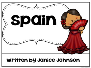 Spain Reader {English version} & Vocab pages ~ Simplified for Young Readers