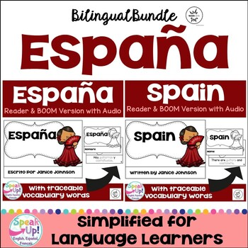 Spain Reader & vocab pages in English & Spanish {Bilingual version}