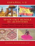 Span 1+35 + Activities Spain-Reading, Inquiry based, Broch