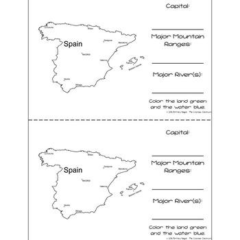 Spain - Research Mini Book