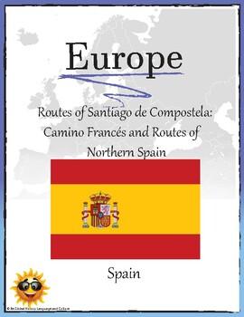 (EUROPE GEO) Spain: Routes of Santiago de Compostela Camino Frances and Routes