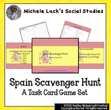 Spain Scavenger Hunt Game Task Cards Basic Facts, Geograph