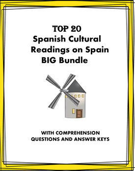 Spain: Spanish Reading Bundle: People, Places and Culture: 22 Lecturas @50% off!