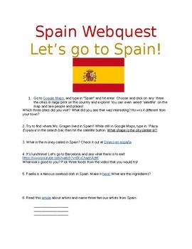 Spain 'Webquest'