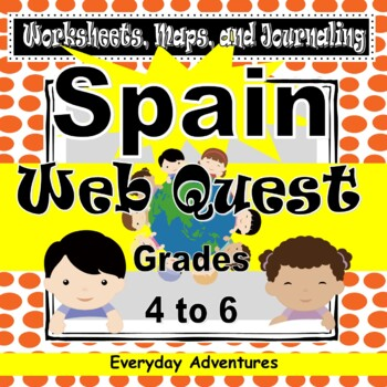 Spain:  Worksheets, Maps, and Journaling Pages