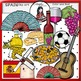 Spain clip art -Color and B&W- 45 items!