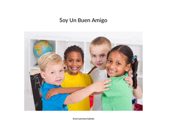 """Spanish Social Story """"gentle with friends"""""""