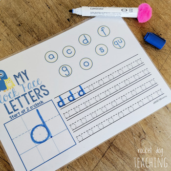 Spalding Clock Face Letters Handwriting Pack