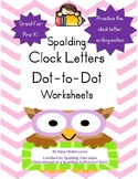 Spalding Clock Letters Dot-to-Dot Worksheets