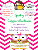 Spalding Copywork Sentences A-G