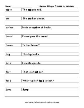 Spalding Copywork Sentences Section H